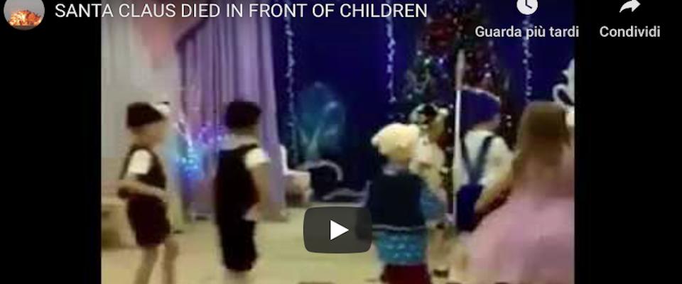 Babbo Natale Video Per Bambini.Babbo Natale Muore Davanti Ai Bambini Alla Recita Scolastica Video
