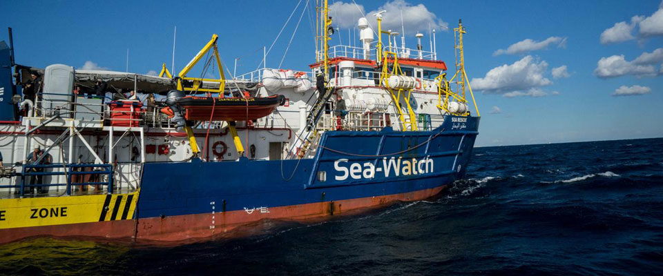 La nave dell'Ong tedesca Sea Watch