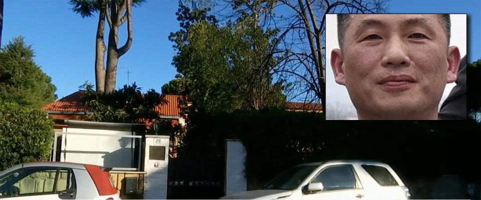 L'ambasciata della Corea del Nord a Roma e, nel riquadro, l'ex-ambasciatore Jo Song Gil che ha disertato