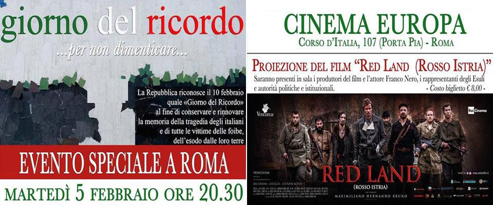 Giorno del Ricordo, Foibe: oggi la proiezione del film Red Land sull'omicidio di Norma Cossetto