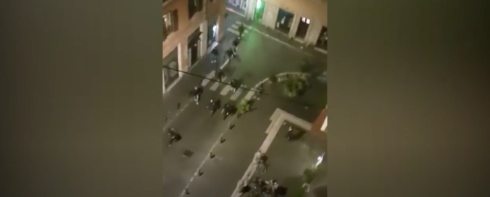 La rissa al rione Monti a Roma, denunciati tre tifosi laziali