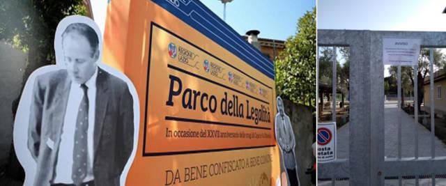 Parco della Legalità alla Romanina a Roma: il bluff di Zingaretti. Subito chiuso dopo le elezioni