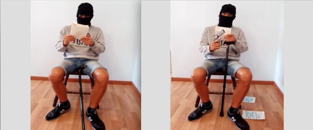 """L'ultrà Fabio Gaudenzi nei frame del video in cui sostiene di sapere chi c'è dietro l'omicidio di Fabrizio Piscitelli """"Diabolik"""""""