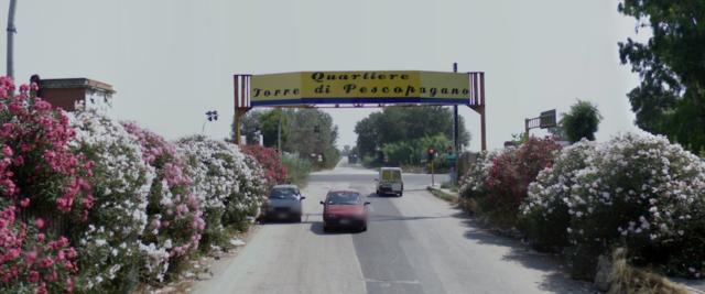 L'ingresso del Quartiere di Pescopagano, frazione di Mondragone