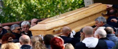 Luca Sacchi, i funerali