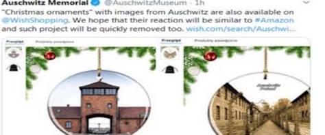 Addobbi natalizi su Auschwiz in vendita su Amazon