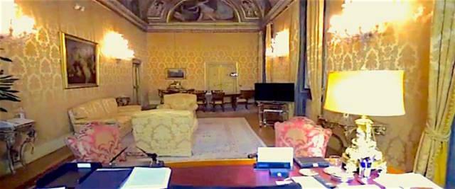 MUSSOLINI AVEVA LO STUDIO NELLA GALLERIA DETI A PALAZZO CHIGI