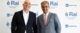 Rai , l'ad della Rai Fabrizio Salini (S) con il presidente Marcello Foa