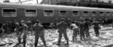 STRAGE BOLOGNA , Soccorritori al lavoro nella stazione di Bologna dopo la strage del 2 agosto 1980. ARCHIVIO/ANSA/