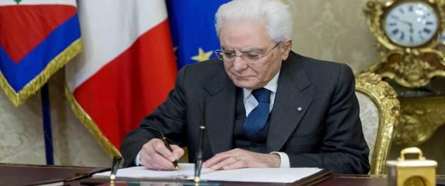 Il presidente della Repubblica Sergio Mattarella foto Ansa