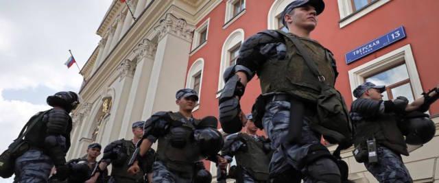 polizia in Russia foto Ansa