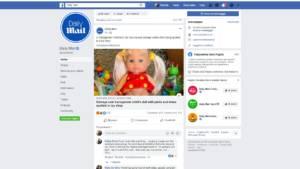 Bambola transgender dalla pagina del Daily Mail su Facebook