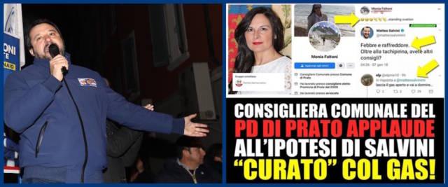 Post choc della consigliera Pd contro Salvini
