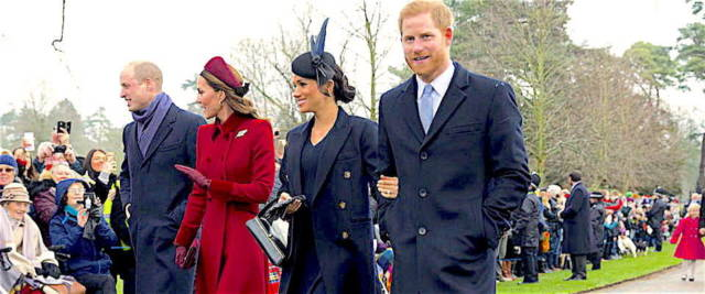 Harry e William con Kate e Meghan