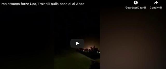 Schermata 2020-01-08 alle 13.21.29 attacco iraniano alla base Usa in Iraq frame da video su Youtube