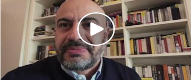 Gianluigi Paragone frame da video dalla sua pagina Facebook