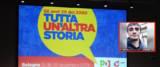 Assemblea nazionale del Pd a Bologna da foto Ansa e nel riquadro Bignami, frame dal video su Fb