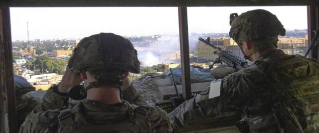 attacco iraniano alle basi Usa in Iraq foto Ansa