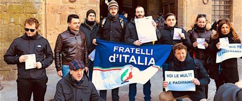 firenze, sit in fratelli d'italia