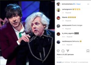 fotoritocco esilarante di Mentana dal suo account Instagram