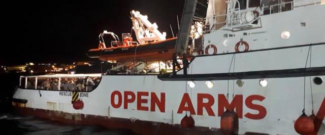 Open Arms foto Ansa