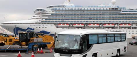 positivo al coronavirus l'italiano a bordo della Diamond Princess foto Ansa