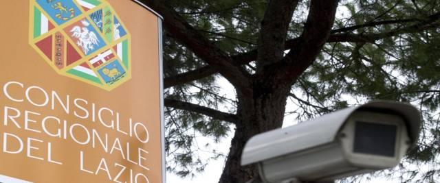 La sede del Consiglio regionale del Lazio in via della Pisana foto Ansa