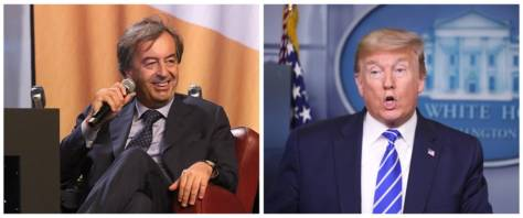 BeFunky-collage con foto Ansa di Burioni e Trump