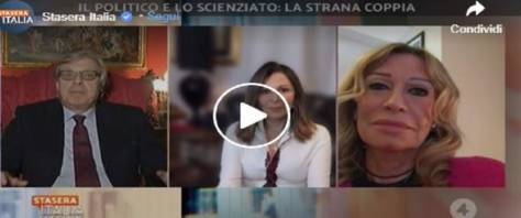 Vittorio Sgarbi in un video dalla pagina Fb di stasera Italia