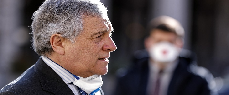 Antonio Tajani, Forza Italia, foto Ansa