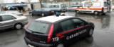 ambulanza e carabinieri al campo rom foto Ansa
