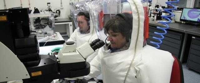 Ricerca sul coronavirus foto Ansa