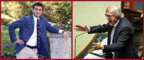 BeFunky-collage con foto Ansa dParenzo (a sinistra) e di Sgarbi