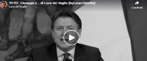 Totò e Giuseppi, frame dal video sulla pagina Facebook di Luca del Vaglio