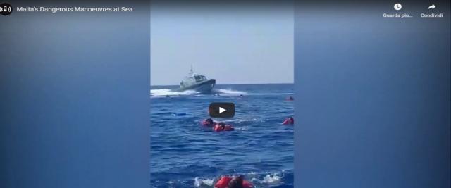 migranti speronati dalla guardia costiera maltese frame da video Youtube