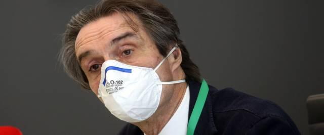 Il presidente della regione Lombardia Attilio Fontana foto Ansa