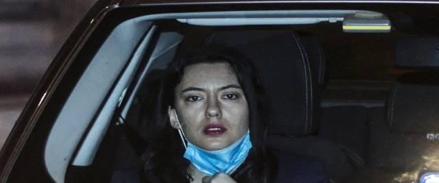 La ministra dell'Istruzione Lucia Azzolina arriva in auto a palazzo Chigi per vertice di maggioranza con il presidente del Consiglio Giuseppe Conte sul dl scuola a Roma foto Ansa