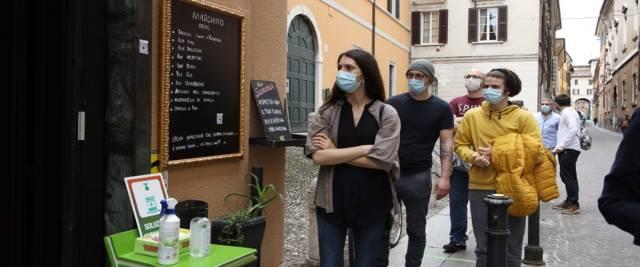 la riapertura e la paura degli italiani del ristorante foto Ansa