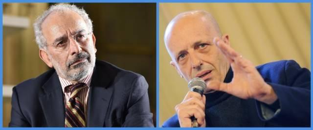 BeFunky-collage con foto Ansa di Gad Lerner (a sinistra) e di Alessandro Sallusti