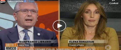 Librandi da ridere contro la Donazzan video dalla Pagina Fb di Dritto e Rovescio