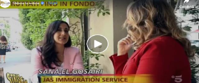 Striscia inchioda a Bellanova vframe da video dalla pagina Fb di Striscia la notizia