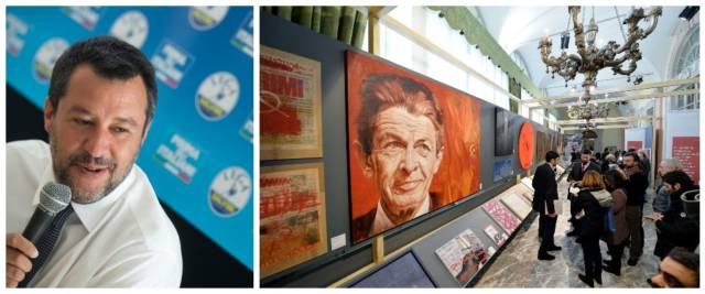 BeFunky-collage con foto Ansa di Salvini e Berlinguer in un ritratto