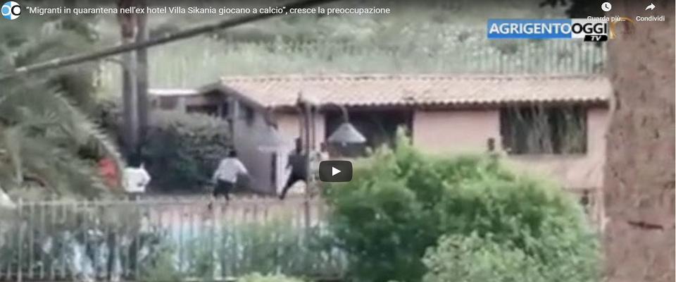 Immigrati ospiti del centro d'accolgienza Villa Sikania frame da video Youtube