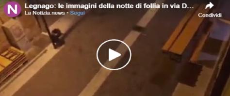 Immigrati violenti a Legnago volano sprangate frame da video dalla pagina Fb LaNotizia.news