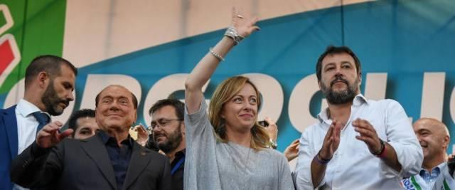 Salvini Berlusconi e Meloni