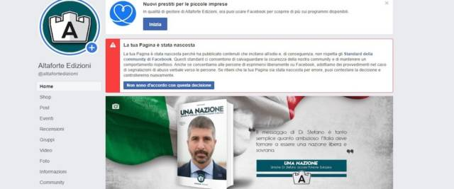 facebook censura altaforte