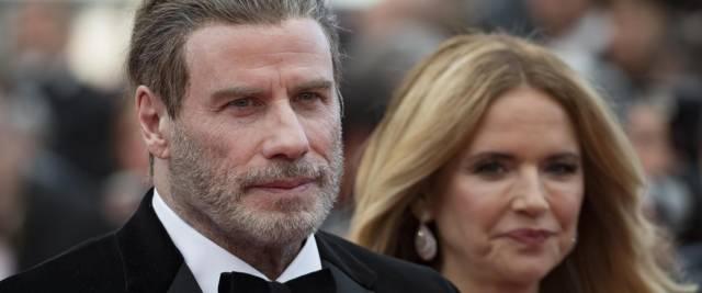John Travolta e la moglie Kelly Preston foto Ansa
