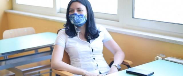 Il ministro della Pubblica istruzione, Lucia Azzolina, foto Ansa