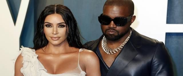 Kanye West, marito di Kim Kardashian, sfida Trump foto Ansa,