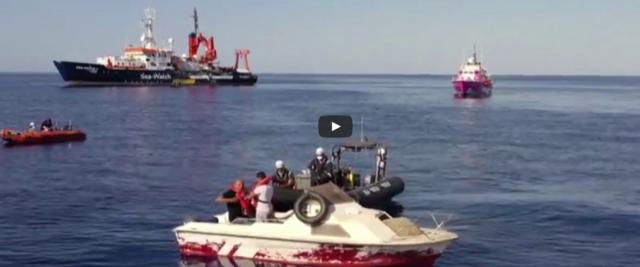 Video dei soccorsi delle Ong e della nave di Banksy dell'Ansa postato su Youtube